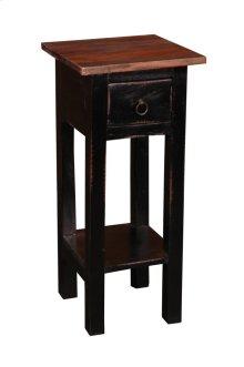 CC-TAB1792TLD-ABRW  Cottage Narrow Side Table  Antique Black  Raftwood