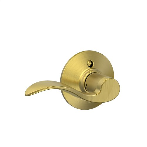 Accent Lever Non-Turning Lock - Satin Brass