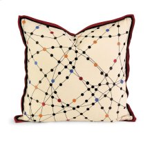 IK Xander Embroidered Linen Pillow w/ Down Fill