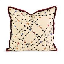 IK Xander Embroidered Linen Pillow w/ Down Fill