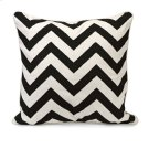 Chevron Black and White Embroidered Pillow Product Image