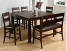 Dark Rustic Prairie Counter Height Bench Product Image