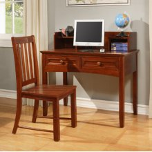"Parker ""Cinnamon"" Study Suite - 360-238 Desk, 360-255 Hutch, 360-257 Chair"