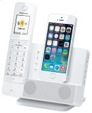 Link2Cell Digital Phone with iPhone5 Integration and Answering Machine KX-PRL260W 1 Cordless Handset Product Image