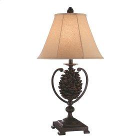 Big Sur Iron Pinecone Table Lamp
