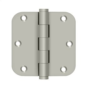"3 1/2""x 3 1/2""x 5/8"" Radius Hinges - Brushed Nickel"
