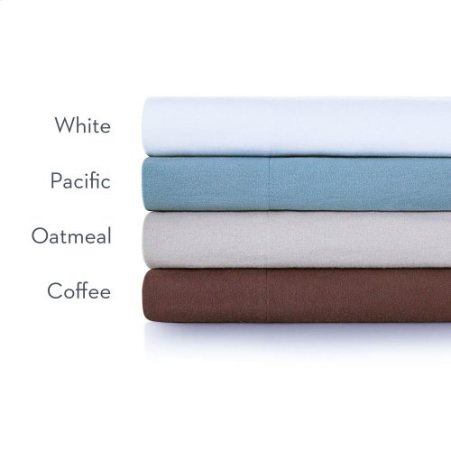 Portuguese Flannel - King Pillowcase Coffee
