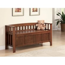 Traditional Brown Bench