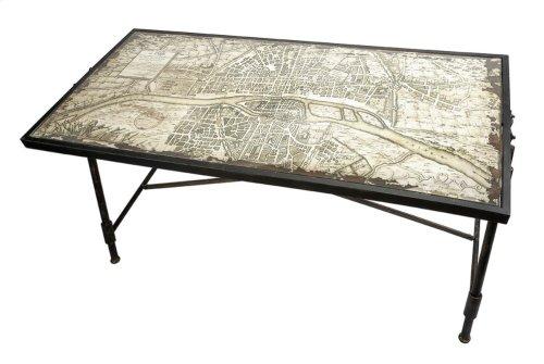 Bedeau Paris Glass Top Writing Desk