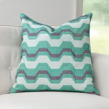 Zig Zag Pillow-Green
