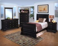Belle Rose 3/3 T Sleigh Bed - Desk