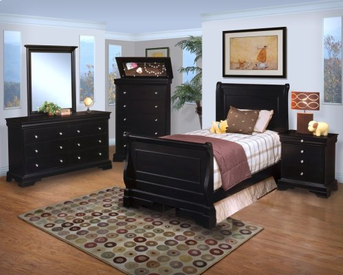 Belle Rose 3/3 T Sleigh Bed - Hutch