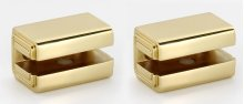 Cube Shelf Brackets A6550 - Polished Brass