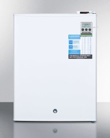 Compact Commercially Listed Manual Defrost All-freezer With Digital Thermostat, Alarm, Hospital Grade Cord, External Thermometer and Lock
