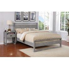 Vadstena Bed - Full, Grey Finish