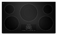 "36"" Electric Cooktop with 5 Radiant Elements and Touch-Activated Controls - Black"