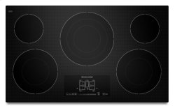 36-Inch, 5-Element Electric Cooktop with Even-Heat Technology and Touch-Activated Controls - Black