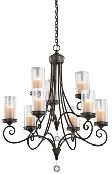 Lara 9 Light Chandelier Shadow Bronze