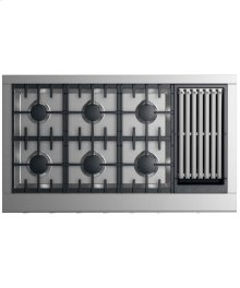 """Gas Cooktop 48"""" 6 burners with grill (LPG)"""