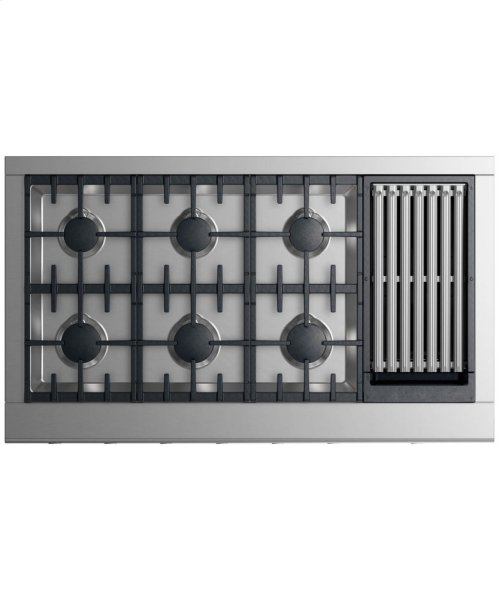 """Gas Cooktop 48"""" 6 burners with grill"""