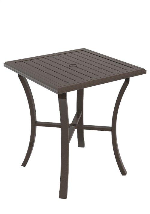 """Banchetto Square 36"""" Bar Umbrella Table, KD"""