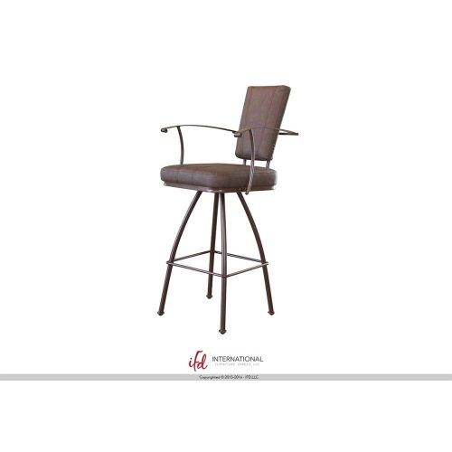 """30"""" Swivel Barstool - Upholstered back & seat, iron base"""