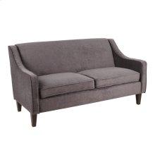Telluride Sofa - Espresso Wood, Black Fabric
