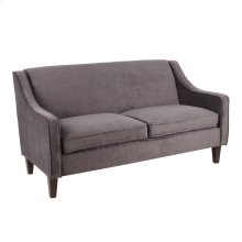 Telluride Sofa - Espresso Wood, Black Fabric