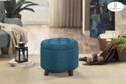 Storage Ottoman, Blue Product Image