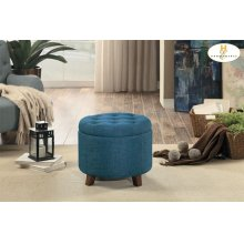 Storage Ottoman, Blue