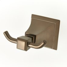 Double Robe Hook Leyden Series 14 Bronze