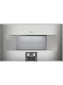 "400 series Combi-steam oven BS 485 610 Stainless steel-backed full glass door Width 30"" (76 cm) Left-hinged Controls at the bottom"