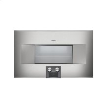 """400 series Combi-steam oven BS 485 610 Stainless steel-backed full glass door Width 30"""" (76 cm) Left-hinged Controls at the bottom"""