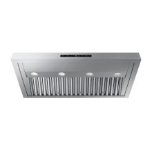 "Modernist 36"" Wall Hood, Silver Stainless Steel"