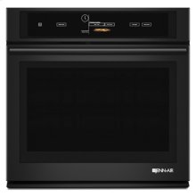 "Black Floating Glass 30"" Single Wall Oven with V2 Vertical Dual-Fan Convection System"