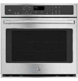 """30"""" GE Cafe Electric Self-Cleaning Convection Single Wall Oven"""