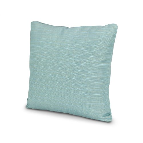 "Dupione Celeste 16"" Outdoor Throw Pillow"