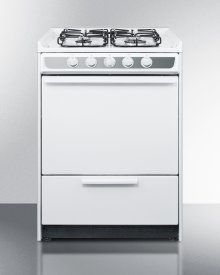 """24"""" Wide Slide-in Gas Range In White With Sealed Burners and Electronic Ignition; Replaces Wnm616r"""