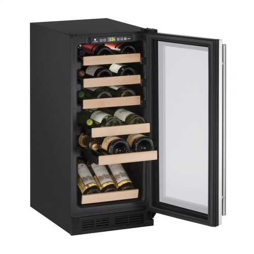 "15"" Wine Captain ® Model Stainless Frame Field Reversible Door"
