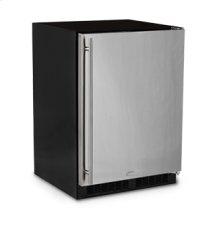 "24"" All Refrigerator with Drawer - Marvel Refrigeration - Solid Panel Overlay Door - Integrated Left Hinge"
