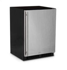 """24"""" All Refrigerator with Drawer - Marvel Refrigeration - Solid Stainless Steel Door - Left Hinge"""