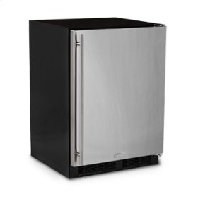 """24"""" All Refrigerator with Drawer - Marvel Refrigeration - Solid Panel Overlay Door - Integrated Right Hinge"""