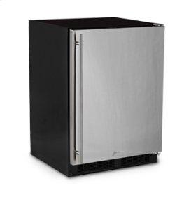 "24"" All Refrigerator with Drawer - Marvel Refrigeration - Smooth Black Door - Left Hinge"