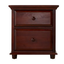 2 Drawer Dresser w/ Crown & Base : : Chestnut :