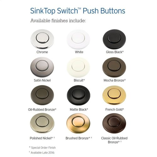 SinkTop Switch - Dual Outlet (Chrome and White Buttons included)