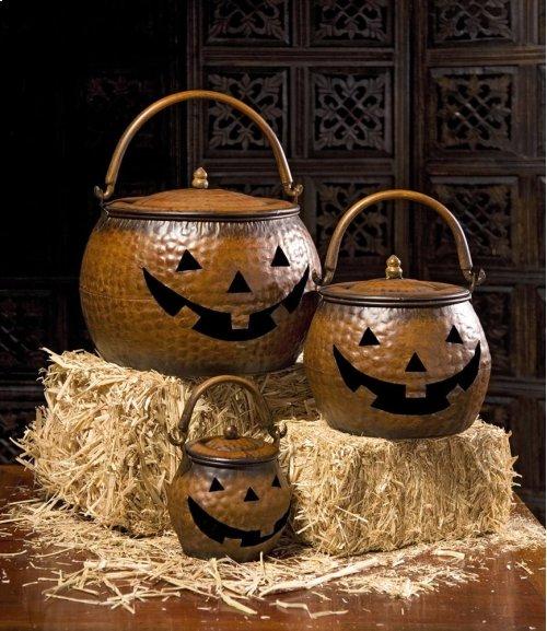 Lidded Pumpkins - Set of 3