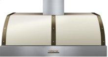 Hood DECO 48'' Cream matte, Bronze 1 blower, electronic buttons control, baffle filters