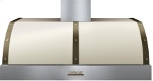 Hood DECO 48'' Cream matte, Bronze 1 blower, electronic buttons control, baffle filters