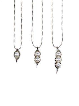 12 pc. ppk. Peas in a Pod Silver Necklace