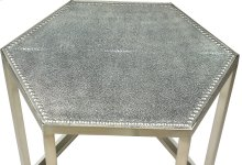 Mallen Leather Stool, Light Grey